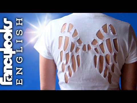 Angel wings cut-out t-shirt how to