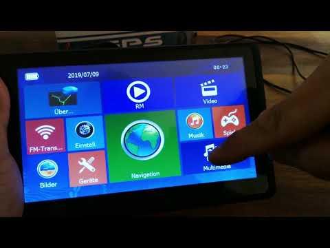 ODLICNO Navigation 7 Zoll Touchscreen Lebenslangen Updates 52 EU-Länder KFZ LKW PKW