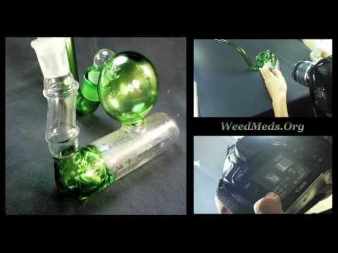 Green Inline Bubbler (Glass)