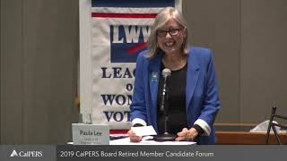CalPERS Board Retired Member Candidate Forum on September 10, 2019