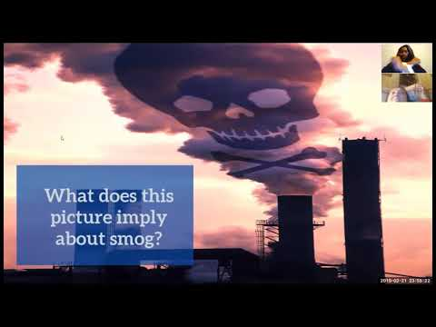 "I customized this course design myself. "" Smog"" ( **Dialogue was provided**)"