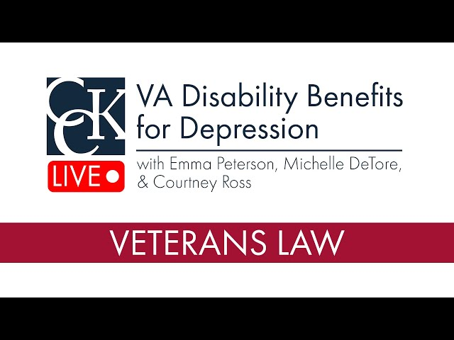 VA Disability Benefits for Depression