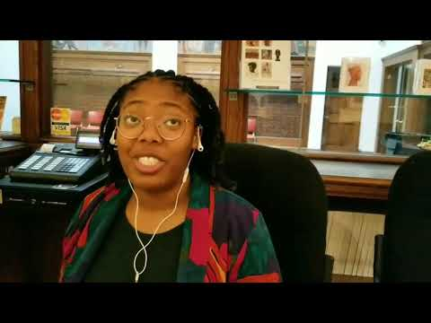 Student volunteer at Clark Atlanta University Museum