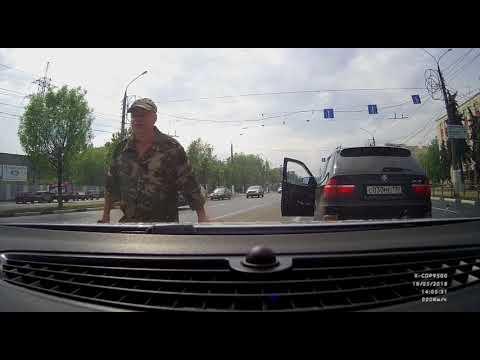 Агрессивный водитель BMW X5 в Твери