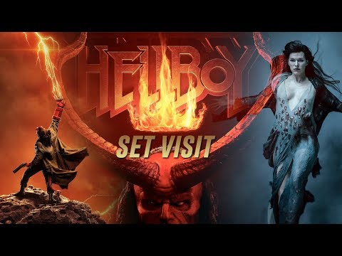 Everything we learned from our HELLBOY Set Visit!