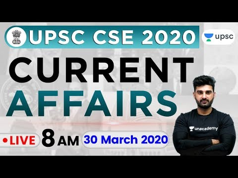 Daily Current Affairs 2020 in Hindi by Sumit Sir | UPSC CSE 2020 |30 Mar 2020 The Hindu, PIB for IAS