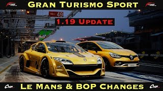 GT Sport - 1.19 Adds Circuit de la Sarthe & BOP/Fuel Changes