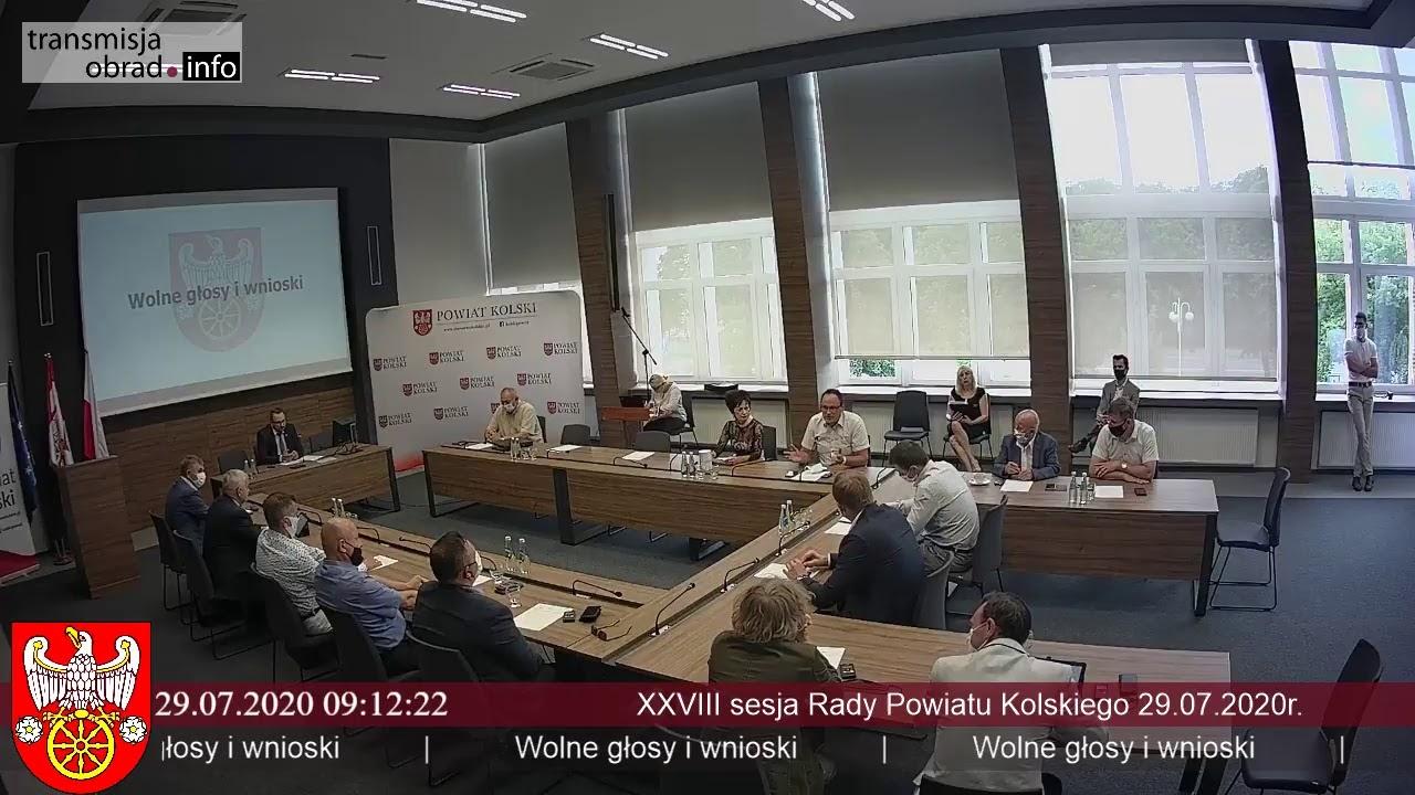 Zdjęcie do XVIII sesja Rady Powiatu Kolskiego