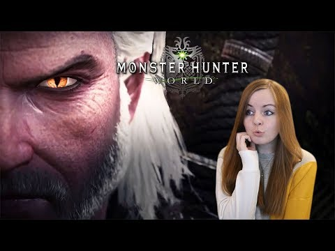 THE WITCHER COLLAB | Monster Hunter World Iceborne Trailer Reaction (видео)