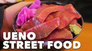 TOKYO STREET FOOD In UENO With DaveTrippin! | Ameyayokocho
