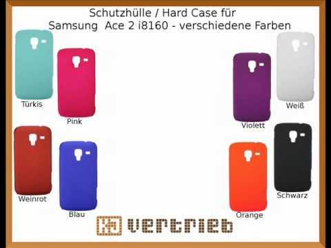 Schutzhülle / Hard Case für Samsung Galaxy Ace 2 i8160 - Verschiedene Farben
