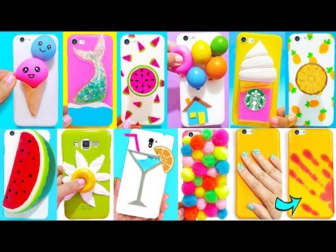 Download 10 DIY STRESS RELIEVER PHONE CASES | Easy & Cute Phone Projects & IPhone Hacks HD Mp4 3GP Video and MP3
