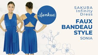 How To Wear A Convertible Infinity Dress In A Halter With Faux Bandeau Style - Sonia SAKURA