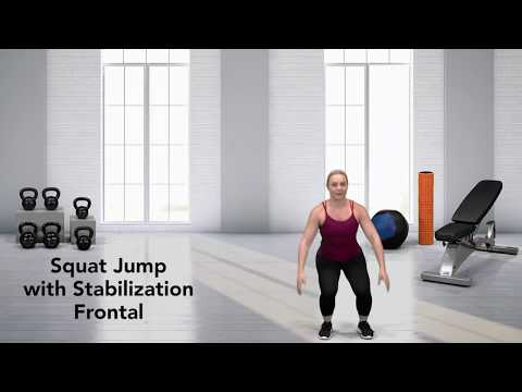Squat Jump with Stabilization Frontal