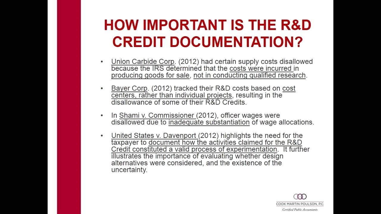 R&D Tax Credit