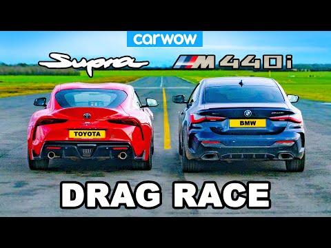 BMW M440i v Toyota Supra - DRAG RACE