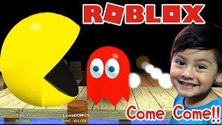 Pacman en Roblox | Aventuras con Pacman y los Fantasmas | PacBlox Juegos para niños Roblox
