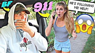 I Followed My GIRLFRIEND DISGUISED As A ROBBER! *SHE CALLED THE COPS*