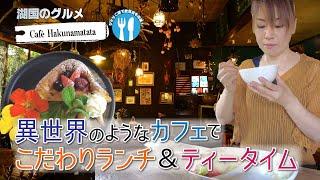 【湖国のグルメ】Café Hakunamatata【チキン南蛮プレート&ティーブレイク】