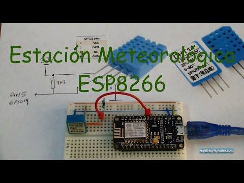 Estación Meteorológica con DHT11 y ESP8266