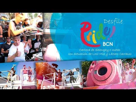 #wearefamily #pridebarcelona Pride Barcelona 2019 desde la carroza de Shangay e Instax