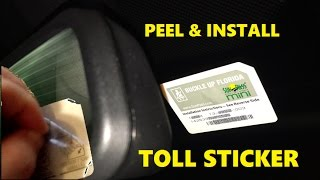 How to INSTALL Unpeel Transponder Vehicle Car Windshield STICKER Sunpass Mini E-Pass E-ZPass TollTag