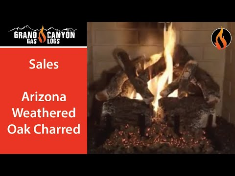 Grand Canyon Gas Logs - Arizona Weathered Oak Charred