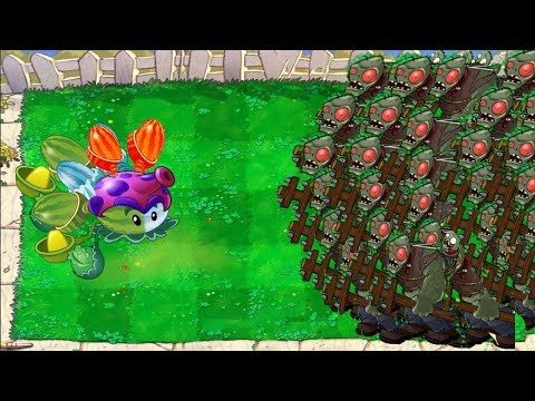 Plants vs Zombies Hack - 1 Fierce-pult vs 9999 Giga-gargantuar ††