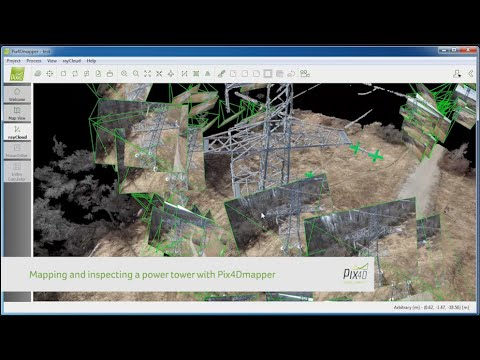 Pix4D - Mapping and Inspecting a power tower