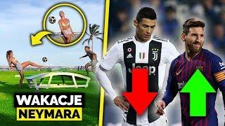 Neymar na wakacjach gra z DZIEWCZYNĄ W PIŁKĘ! Messi LEPSZY od Ronaldo według statystyk!