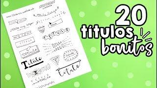 20 TÍTULOS BONITOS!! ✄ Barbs Arenas Art!