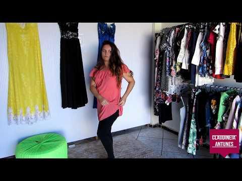 4be21cbed Transformando Vestido em Blusa da Moda-Reforma de Roupa