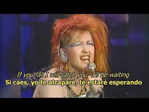 Time after time - Cindy Lauper (LYRICS/LETRA) [80s]