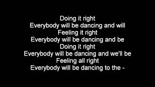Daft Punk ft Panda Bear - Doin' It Right (Lyrics)