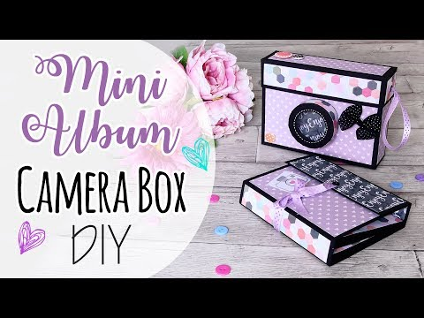 Album e scatola Macchina fotografica - Mini Album in Camera Box DIY