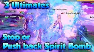 Can 3 Ultimates Push Back Spirit Bomb?! - Dragon Ball Xenoverse 2