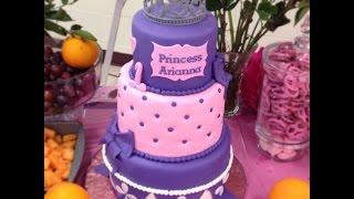 How to make a fondant name plaque  (Princess Sofia cake)