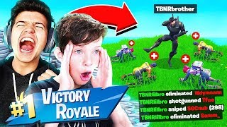 FORTNITE BATTLE ROYALE with BEST 13 YEAR OLD! (little brother)