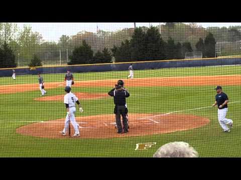 Hunter Smoak-SP (WP)-Raleigh Hawks Varsity Baseball vs Parrott Academy 1st Inning, March 26, 2016