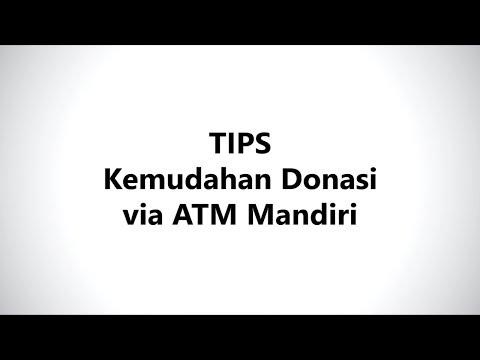 Kemudahan Donasi via  Mandiri ATM