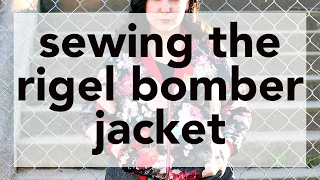 Sewing the Rigel Bomber Rockabilly Jacket