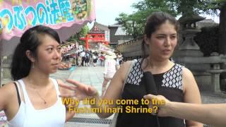 Travelers' Voice of Kyoto:FUSHIMI INARI Area Interview 001