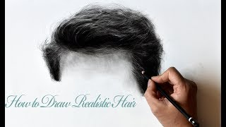 How To Draw Realistic Hair-Step By Step Drawing Tutorial