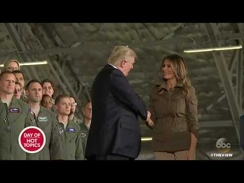 Trump Shakes Melania's Hand At Joint Base Andrews | The View