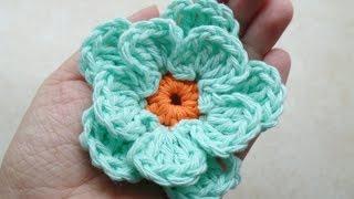 Crochet Easy Flower #TUTORIAL #217  Bagoday Crochet