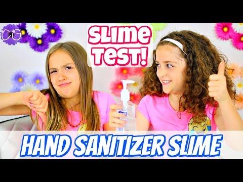HAND SANITIZER SLIME - 1 INGREDIENT SLIME!  SLIME TEST!
