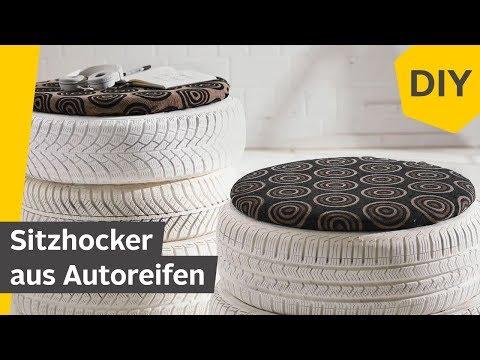 DIY: Sitzhocker aus Autoreifen bauen | Roombeez – powered by OTTO