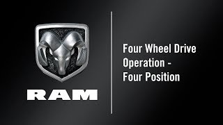 Four Wheel Drive Operation - Four Position | How To | 2020 Ram Classic 1500