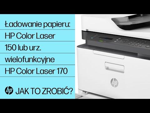 Ładowanie papieru do drukarki HP Color Laser serii 150 lub urządzenia wielofunkcyjnego HP Color Laser serii 170