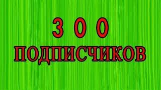 300 подписчиков